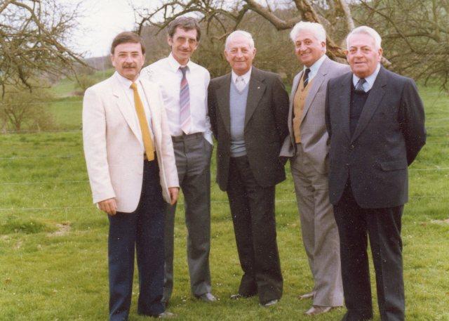 de gauche à droite Pierre Claude Roger Georges Marcel